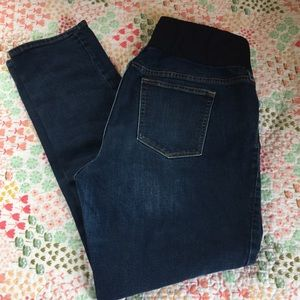 Gap Maternity Real Straight Partial Band Jeans 33R